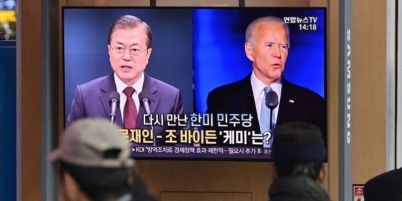Moon Jae-in Minta Joe Biden Lanjutkan Pencapaian Dialog Denuklirisasi Korea Utara Era Trump